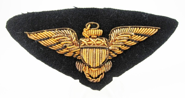 WWII Navy Bullion Pilot Wing